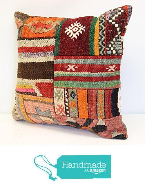 Modern Patchwork kelim pillow cover 18x18 inch (45x45 cm) Handmade Kilim pillow cover Turkish pillow Accent Hand woven Cushion Cover from Kilimwarehouse https://www.amazon.com/dp/B071YKNXMM/ref=hnd_sw_r_pi_dp_rvq.ybK7PDXZ4 #handmadeatamazon