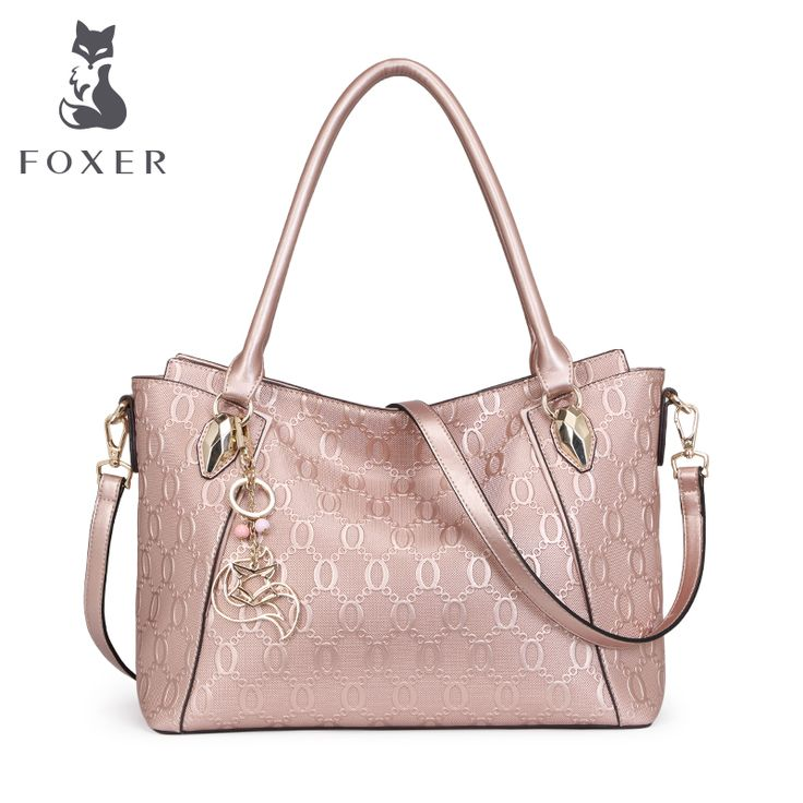 FOXER Brand New Design Women's Cow Leather Chain Pattern Shoulder bag & Handbags