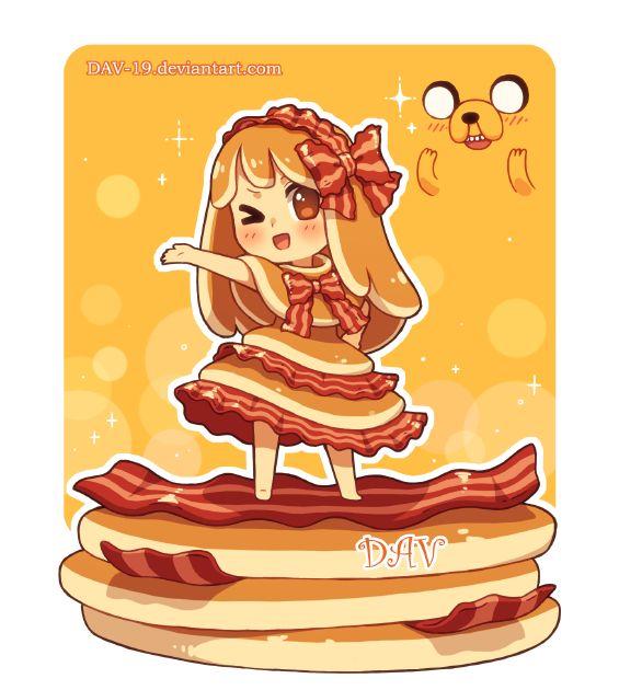 Chibi de panquecas com Bacon