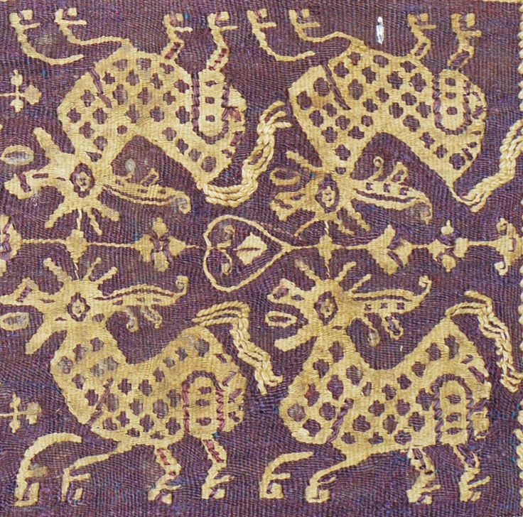 Detail from a large important Coptic alter cloth 5th Century A.D.