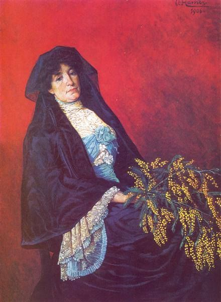 Osman Hamdi Bey   Mimozalı Kadın , 1906