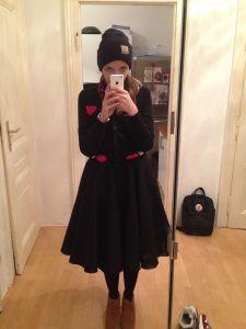 Outfit: Petticoat, Vintage Skirt, Cardigan von modcloth, swanlake, Carhatt