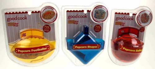 Lot 3 Good Cook Jolly Time Popcorn Baller Shaper Football Round Cube Non Stick