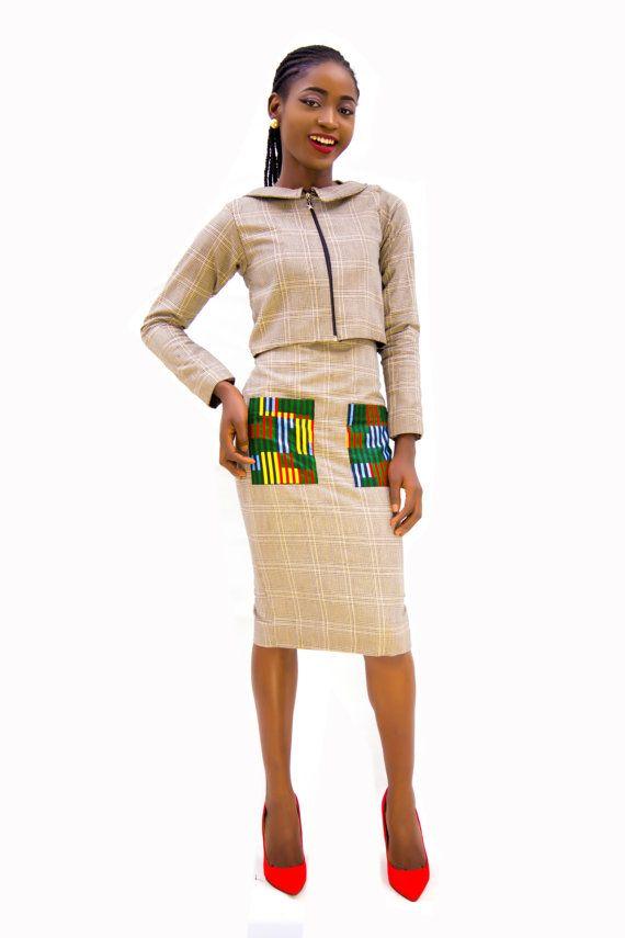 Jaque vestido y capa ropa africana vestido africano el