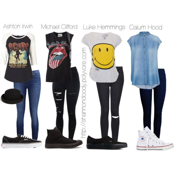 """5sos boys inspired outfits"" by shannondoody on Polyvore"