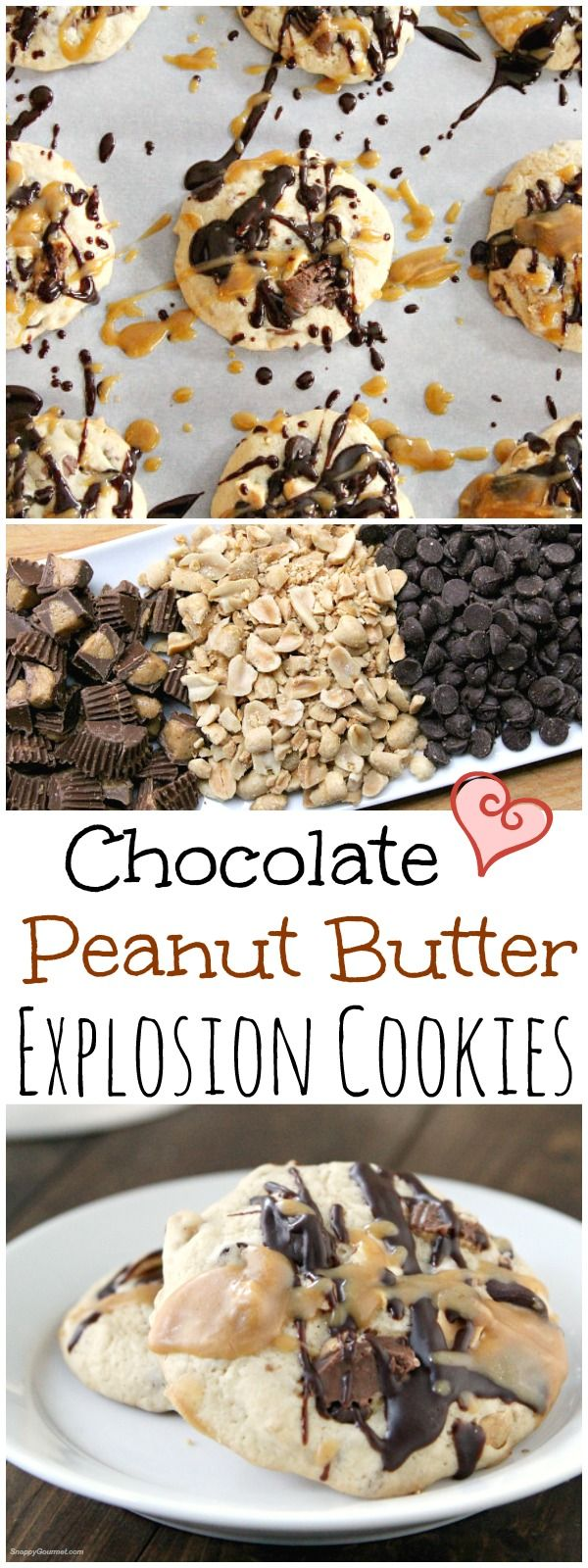 Chocolate Peanut Butter Explosion Cookies - easy holiday or Christmas cookie recipe with @countrycrock ! http://SnappyGourmet.com #ad #MakeItYours