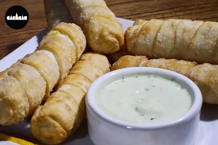 #PicadaCB de Tequeños: deditos de queso blanco envueltos en fina masa para freir + nuestra famosa dip de tártara.