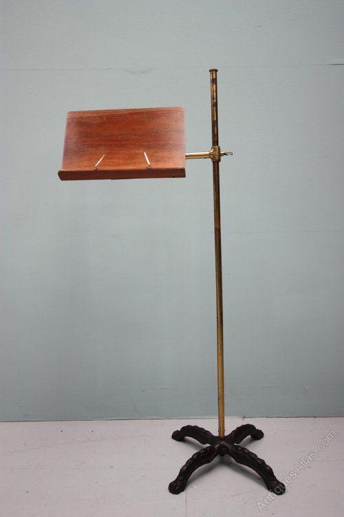 Antique hierro fundido y lectura / Atril de caoba