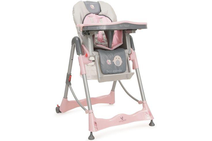 Scaunul se poate plia foarte usor. Este reglabil pe inaltime in 5 pozitii fixe. Spatarul se poate regla de asemenea. Rotile din spate au frane pentru blocarea capacitatii de miscare. Masuta se poate detasa si regla in diferite pozitii, este dubla si se spala usor. Are suport pentru picioare pentru a maximiza confortul copilului.