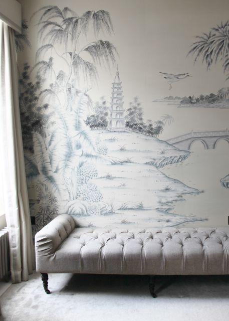 de Gournay wallpaper/John Derian sofa