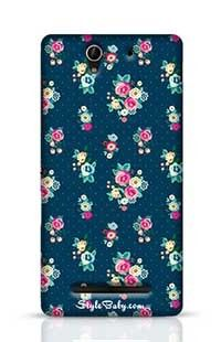 Flowers With Blue Background Sony Xperia C3 New Phone Case
