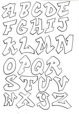 graffiti font - Google zoeken                                                                                                                                                                                 More