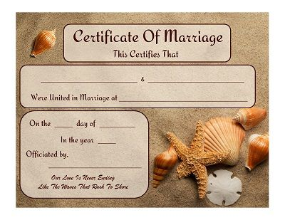 one two three lock box marriage certificate template