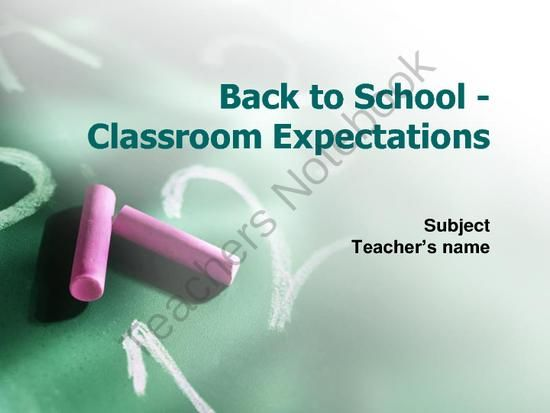 Back to School Classroom Expectations PowerPoint from HappyEdugator on TeachersNotebook.com -  (8 pages)  - Back to School Classroom Expectations PowerPoint. Use at Open House, Back to School Night, or Parent Night. A basic slideshow of classroom expectations for students at the beginning of the year.