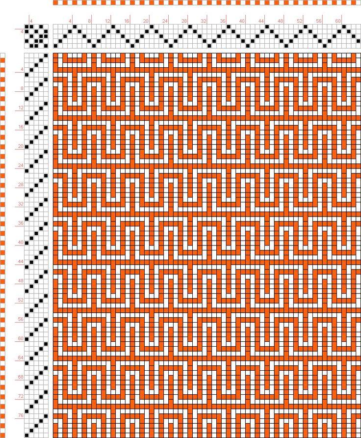 draft image: Figurierte Muster Pl. XX Nr. 10 (b), Die färbige Gewebemusterung, Franz Donat, 5S, 5T