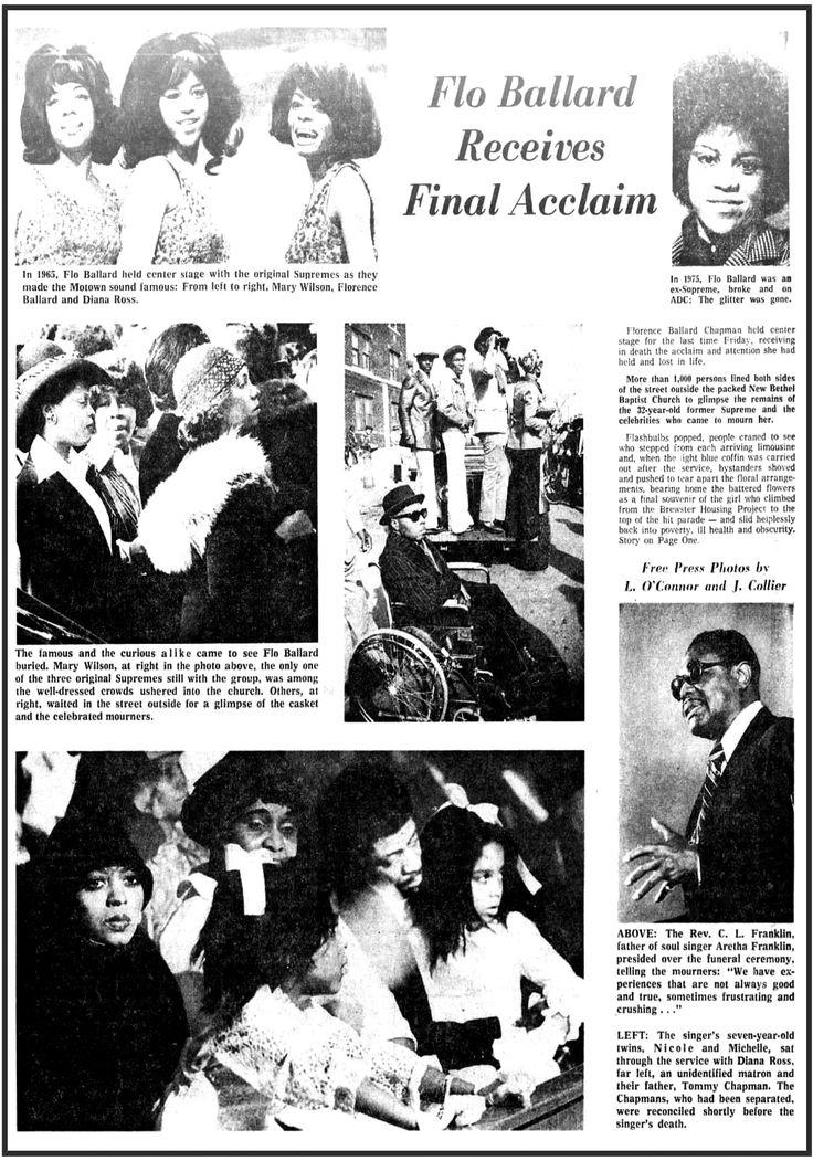 Detroit Free Press Sat Feb 28 1976 Florence Ballard ...