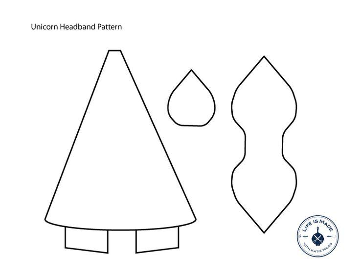 unicorn headband tutorial with free pattern