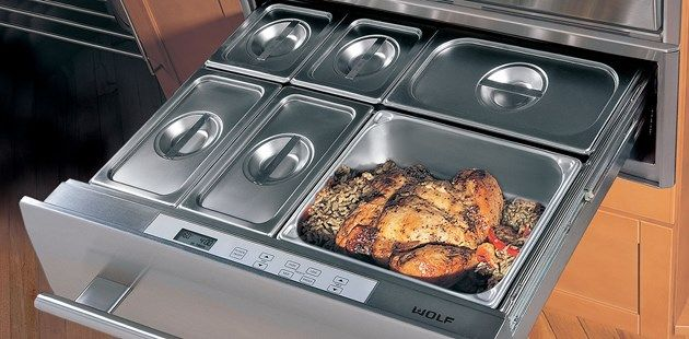 A warming Drawer is the perfect way to manage your time and your meal.  Find this WOLF drawer at Interstate Kitchen Supply in Cleveland #warmingdrawer #wolfcooking #housetrends http://iksappliance.com/