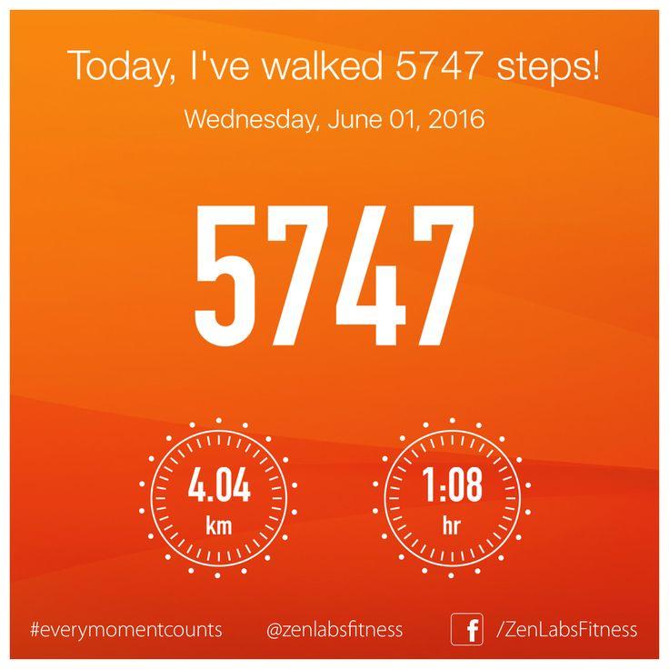 Wednesday, June 01, 2016 - 5747 steps