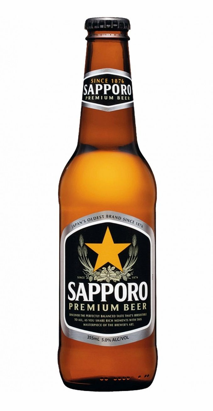 Sapporo Draft Beer, Pale Lager 4,9% ABV (Sapporo Breweries, Japón)