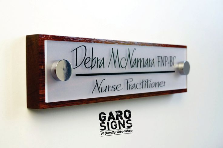 Office Door Sign: Professional Personalized Wood Sign Gift 10 x 2.5 by GaroSigns on Etsy