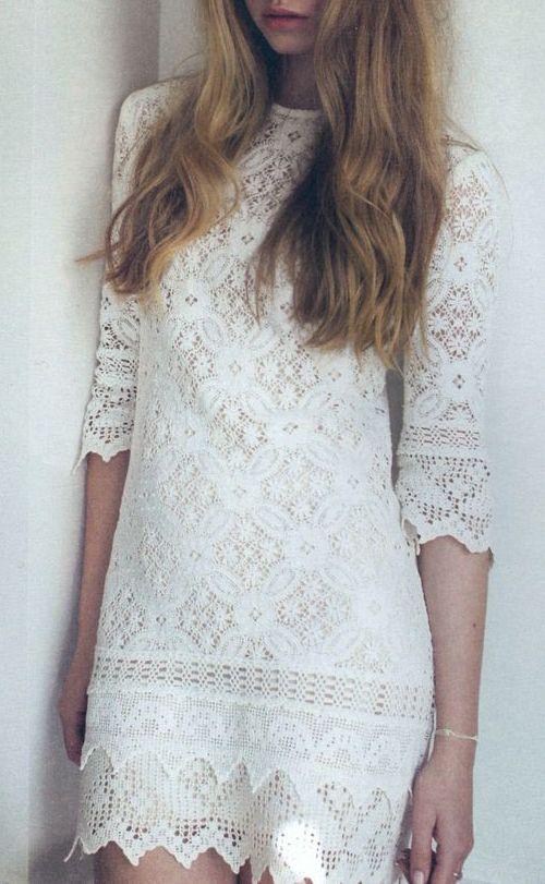 Vintage 60's Twiggy cotton antique lace mod mini shift bridesmaid dress