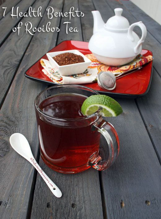 7 Health Benefits of Rooibos (and Honeybush) Tea (plus some delicious recipes!) | deliciousobsessions.com