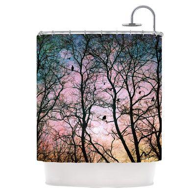 KESS InHouse The Birds Polyester Shower Curtain $209