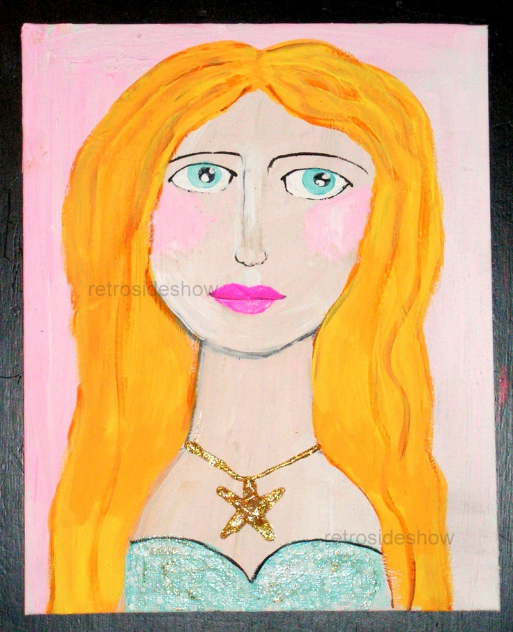 Original #Painting #Mermaid #Girl #art #handmade #thecraftstar $45.00