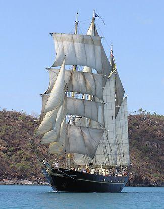 Barquentine Leeuwin,3-mâts barque-goelette,construit en 1986