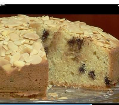 Lidias Almond Chocolate Chip Cake Recipe