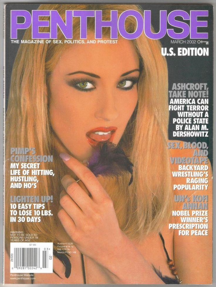 Penthouse Magazine March 2002 - Courtney Taylor Cover/Pet, Fraternity Parties