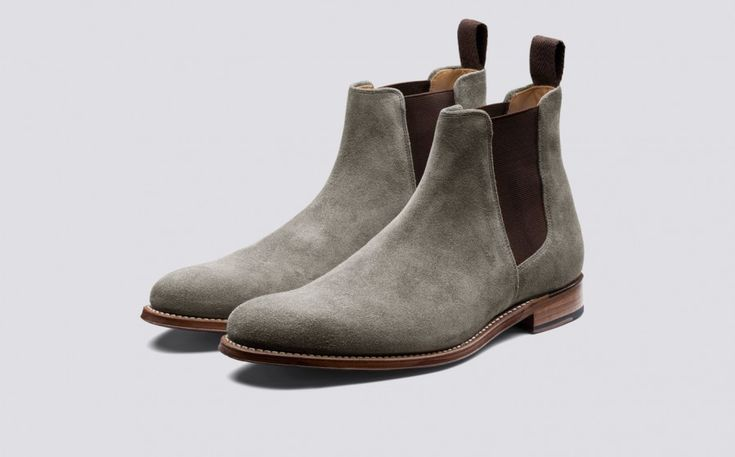 Declan | Mens Chelsea Boot in Vigogna Suede on Leather Sole | Grenson Shoes - Three Quarter View