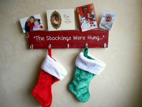 Stocking Holder Christmas Decor  Wall Hanging 24 by milliemoments
