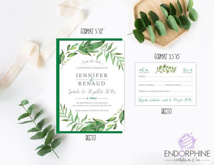 Invitation végétale Endorphine, version imprimable