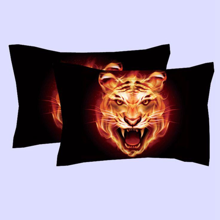 New Design Raging fire Tiger/Horse skeleton head bedding set King queen twin size duvet cover flat sheet pillow case 3pcs Bedset