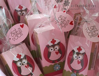 Get well soon tissue holders