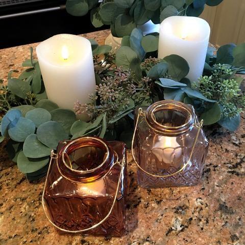 Lisa Robertson Set of 2 Eucalptus candle rings