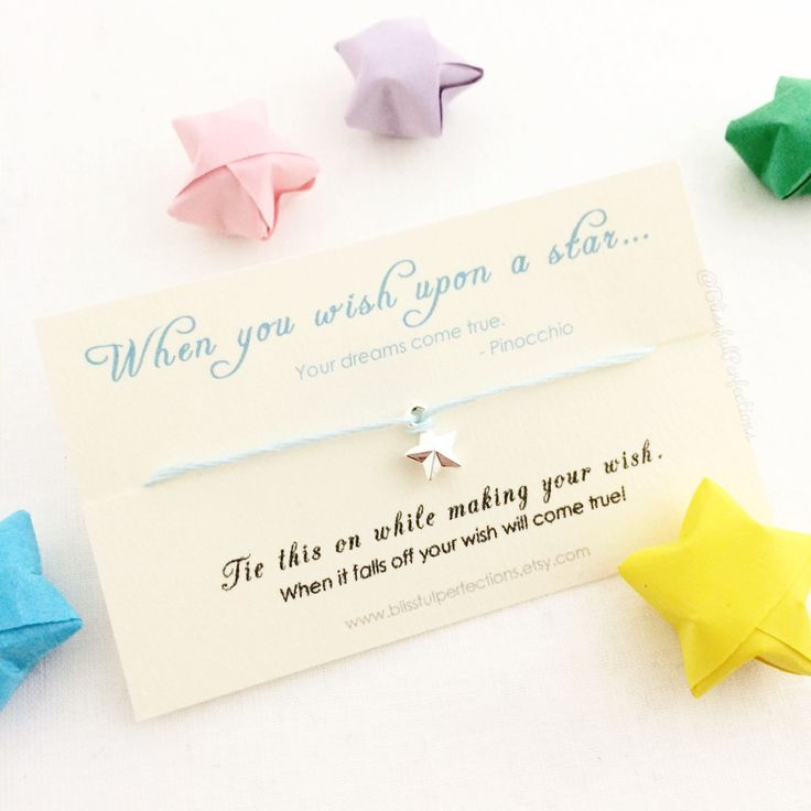 Wish Bracelet - When You Wish Upon A Star, Disney Wish Bracelet, Make A Wish, Dreams Do Come True, Disney Wedding Favors Disney Party Favors by BlissfulPerfections on Etsy