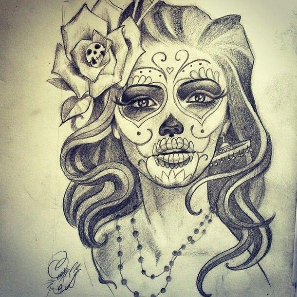 Résultats de recherche d'images pour « beautiful skull tattoos for women »