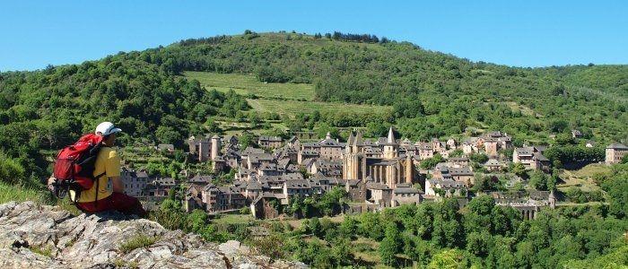 Conques, sur la Route du Puy-en-Velay en direction de Saint-Jacques-de-Compostelle