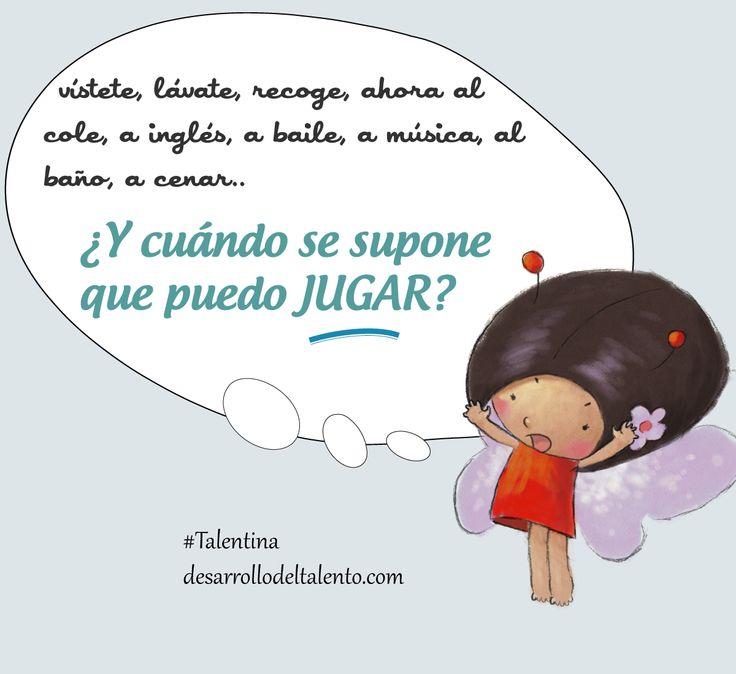 Hoy es el #DíaInternacionaldelJuego y #Talentina quiere recordarnos que los niños necesitan tiempo para #JUGAR.