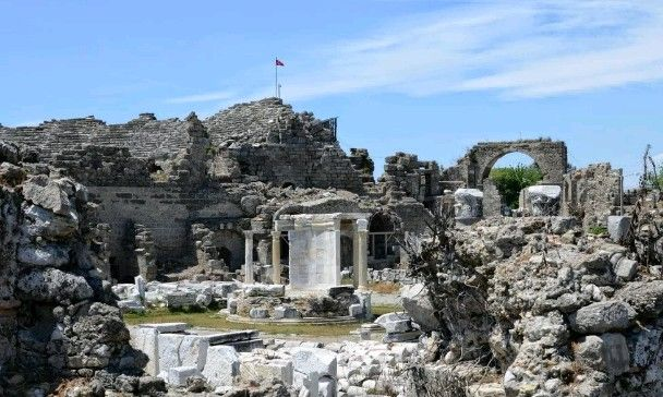 Tyche temple-Constructive: Early Hellenistic period-Built year: Approximately 1800 years old-Side-Manavgat-Antalya