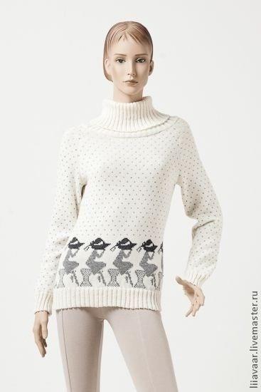 Женский свитер новая коллекция с рисунком