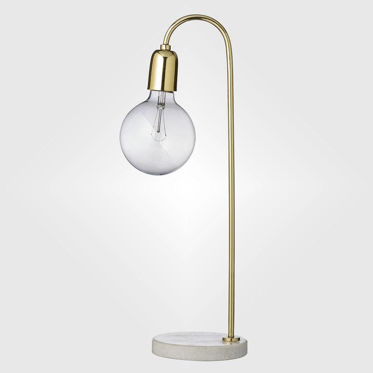 Bloomingville Lampa Marmor/mässing 40w från Dekorette.se