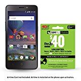 #10: Simple Mobile ZTE Midnight Pro 4G LTE CDMA Prepaid Smartphone with Free $40 Airtime Bundle