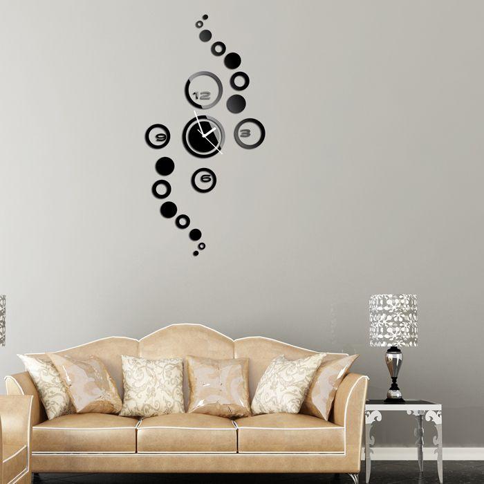 Fashion DIY digital clock mute, green acrylic wall stickers living room wall clock, home decoration, wall clock modern design-in Wall Clocks from Home, Kitchen & Garden on Aliexpress.com | Alibaba Group