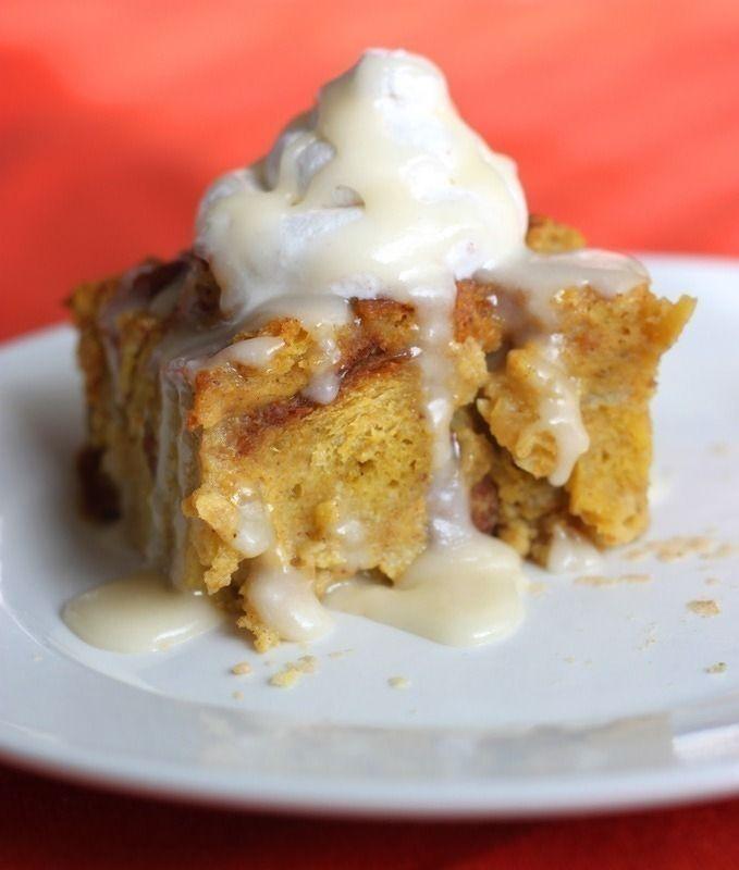 Gojee - Rum Raisin Pumpkin Bread Pudding by The Cilantropist