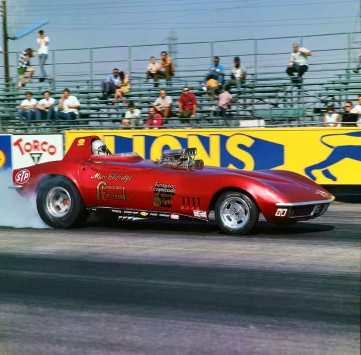 Vintage Drag Racing Funny Car The Mako Shark Corvette Real