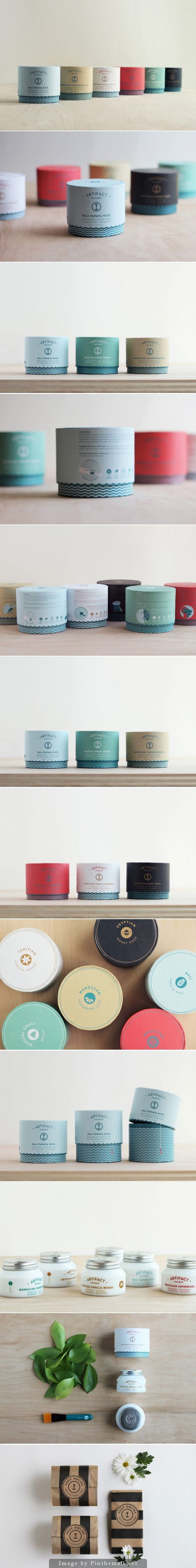 We love the simplicity of this package design. The color palette works beautifully together and we love the hidden illustration  revealed when users lift the top!